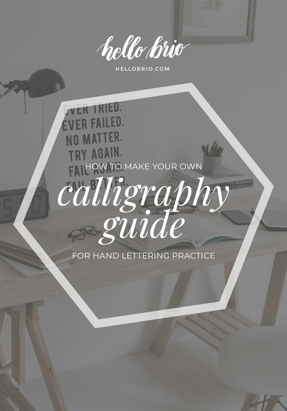 DIY: Make your own angled calligraphy guide