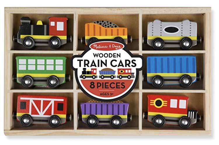 Melissa and Doug Wooden Train Cars