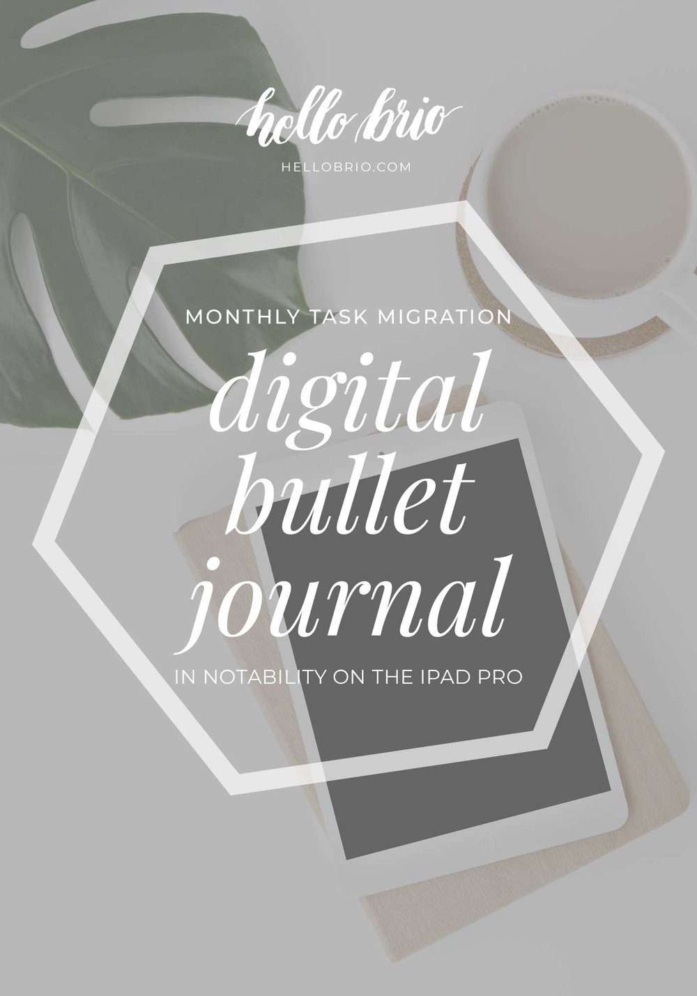 A video on how to do a monthly task migration in a digital bullet journal using Notability | Hello Brio