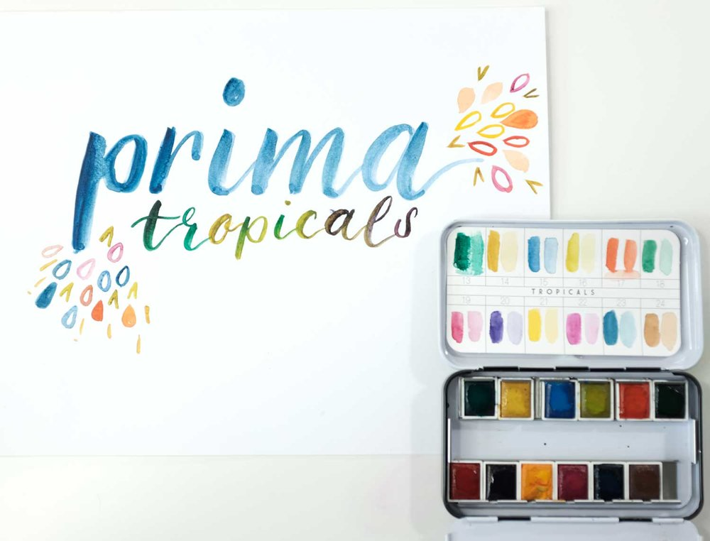 Prima Tropicals watercolor demo