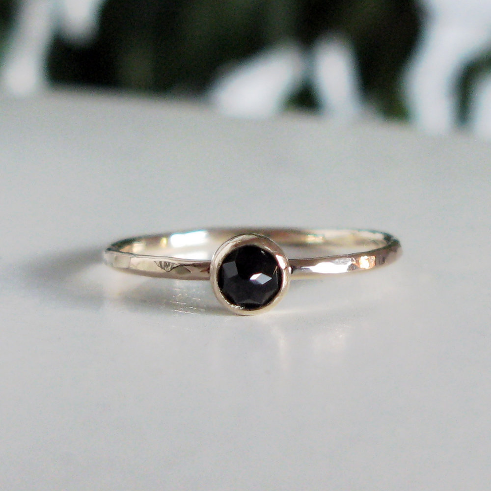 9ct Gold Stacking Ring 4mm Rose Cut