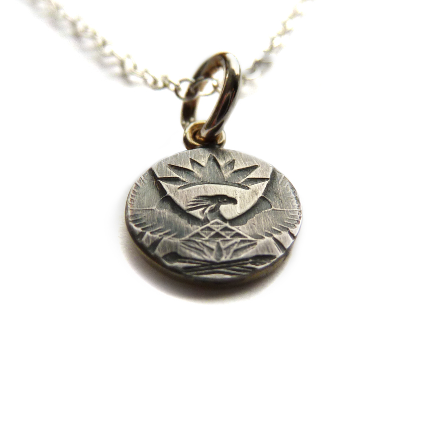 Oxidised Coin Necklace