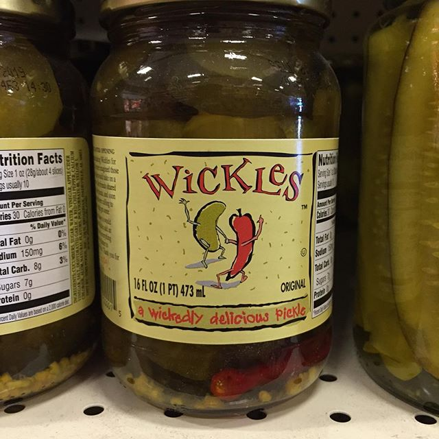 Looking for some spice? These pickles are a one of a kind and are sure to add some kick to your meal! #pickles #wickles #floravista
