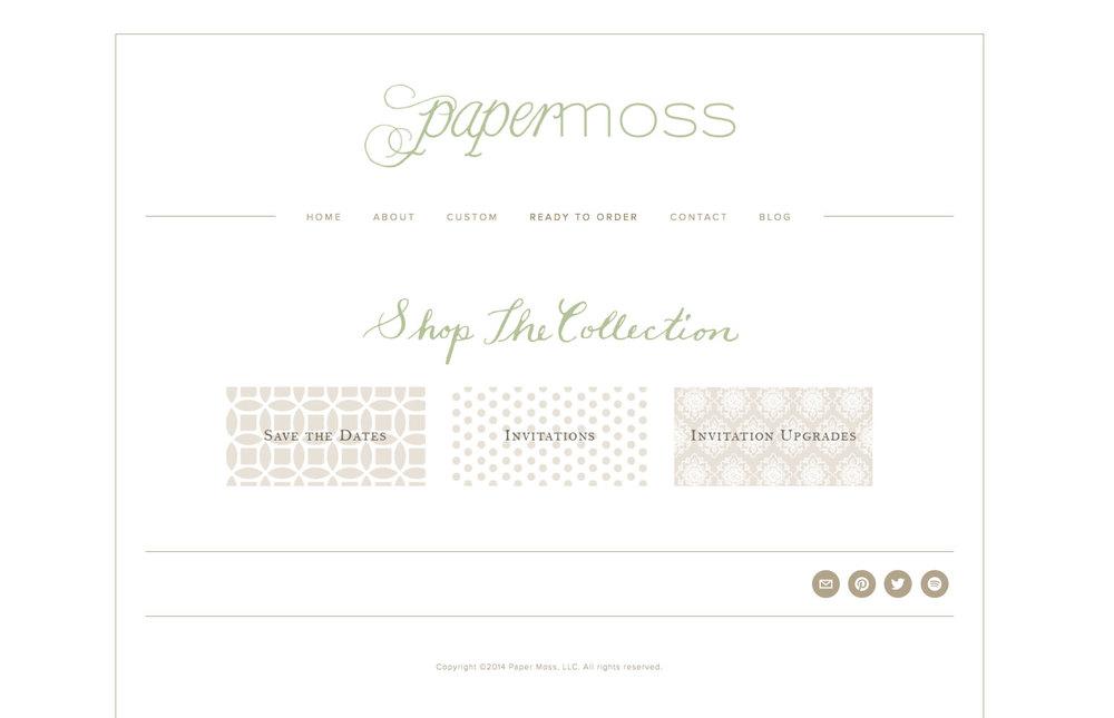 PM shop home page