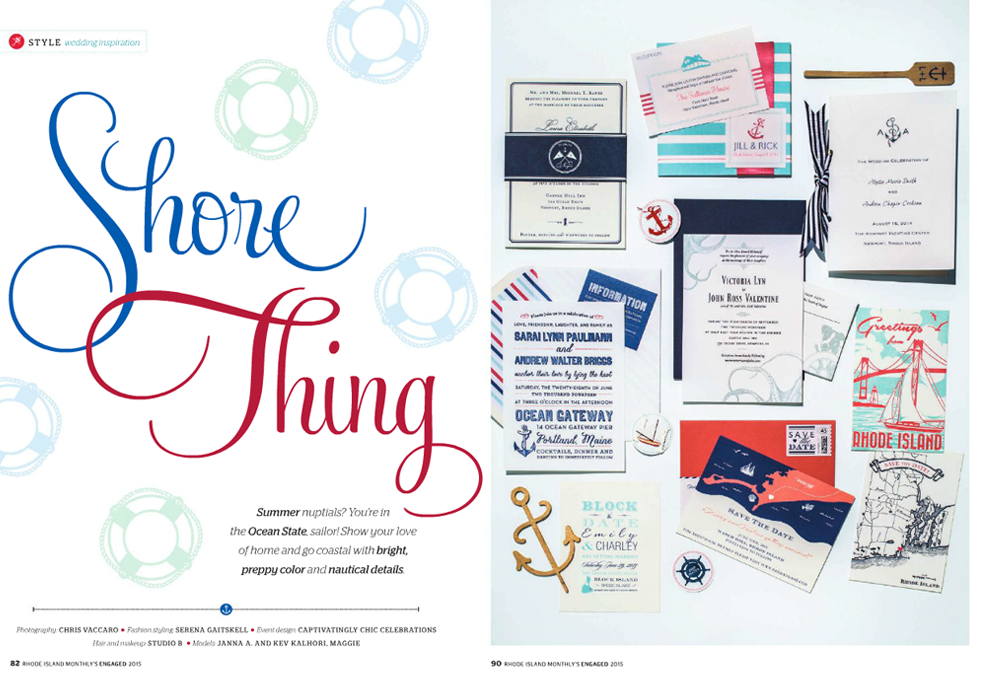 Laura & Chris' navy & white suite is on the top left | Emily & Charley's Save the Date is on the bottom left | Ashley & Fred's Save the Date is on the bottom, center