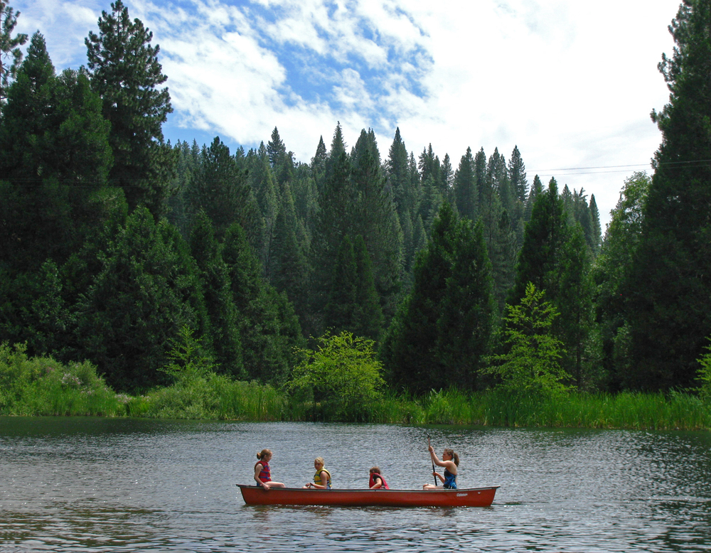Canoe on Lower Pond
