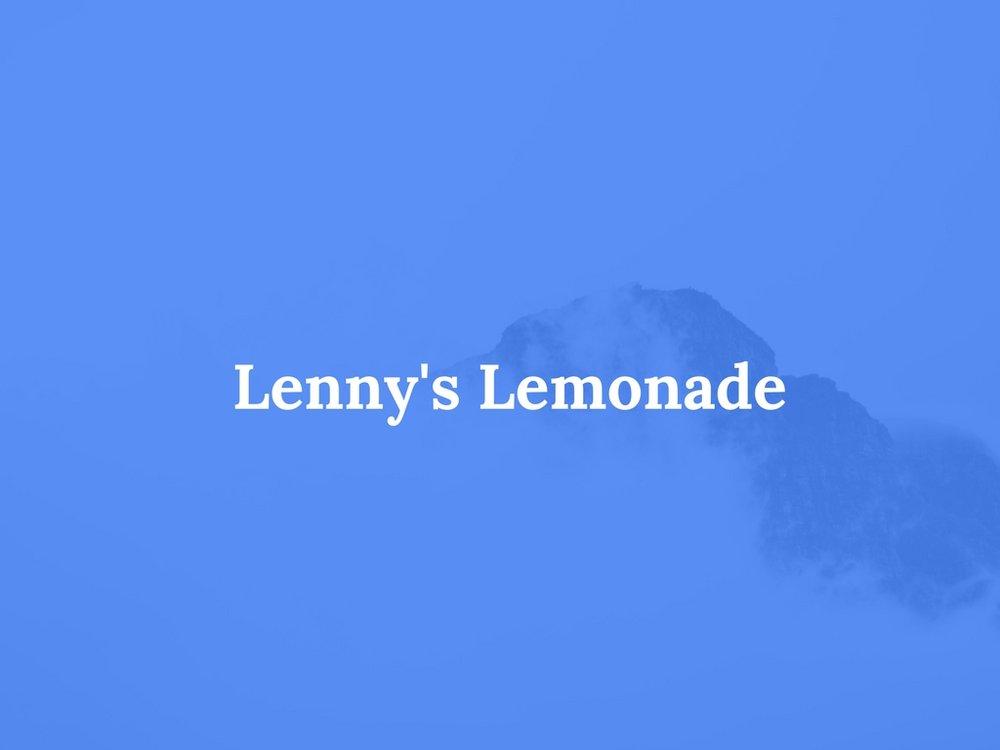 Read Lenny's Lemonade Here