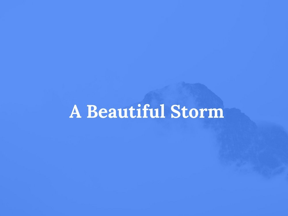 Read a Beautiful Storm