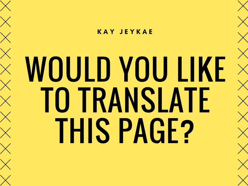 Listen to Would You Like to Translate This Page