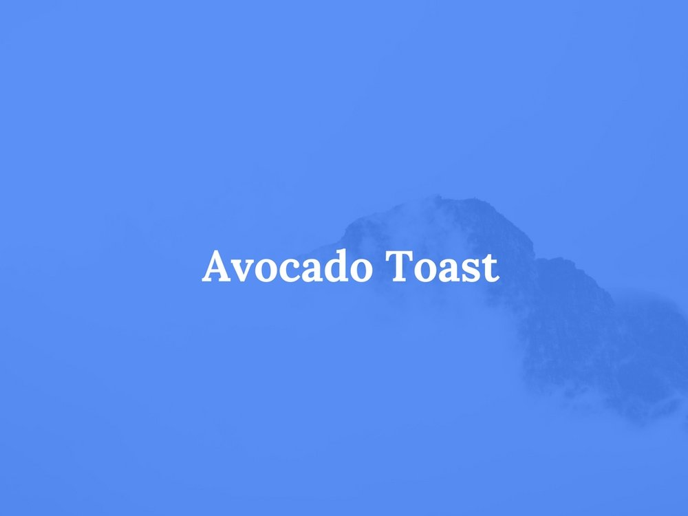Read Avocado Toast