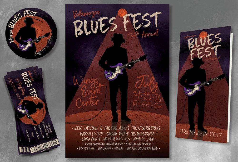 Visual Identity — Blues Fest 2017