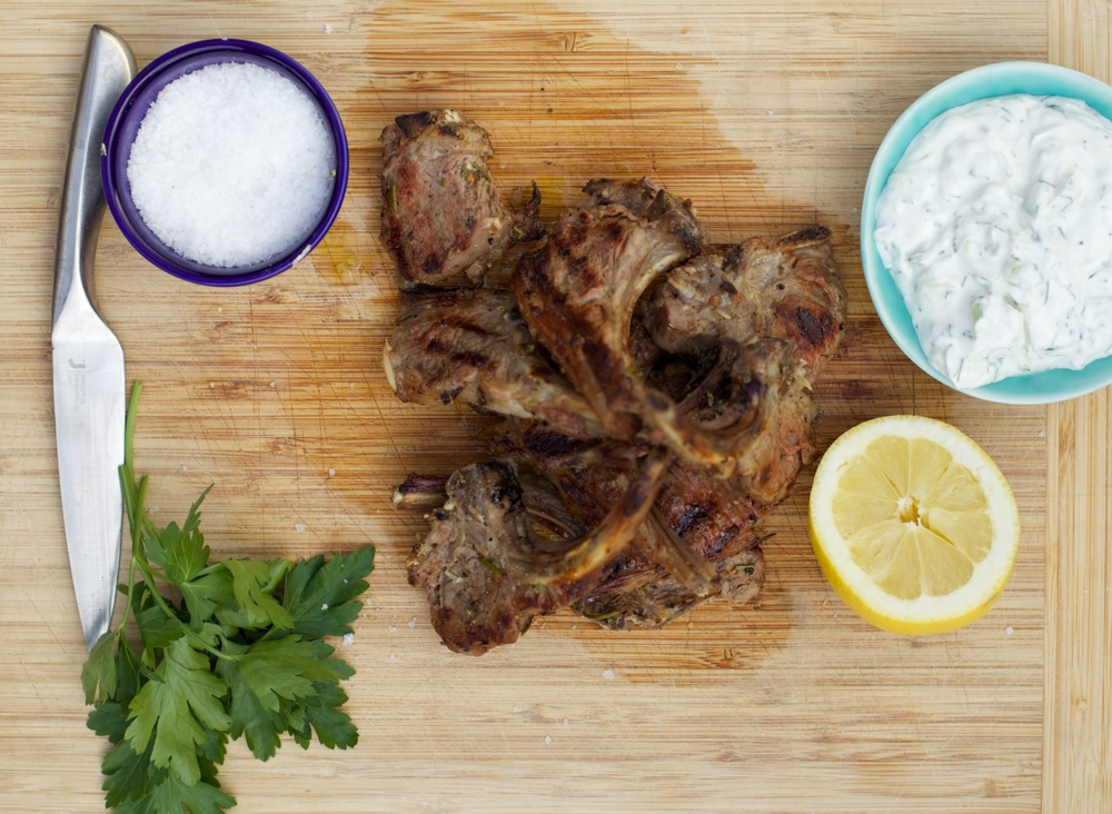 FAISAL' S DELICIOUS PAIDAKIA (BBQ LAMB CHOPS THE GREEK WAY)