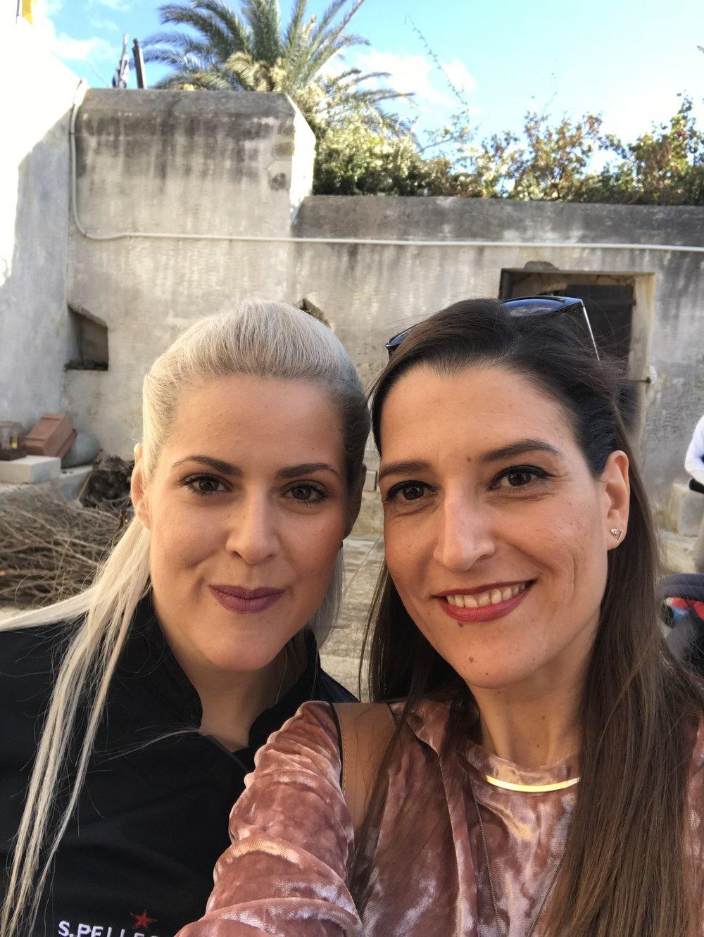 Με την chef Κωνσταντίνας Βούλγαρη – Κοντεσοπούλου