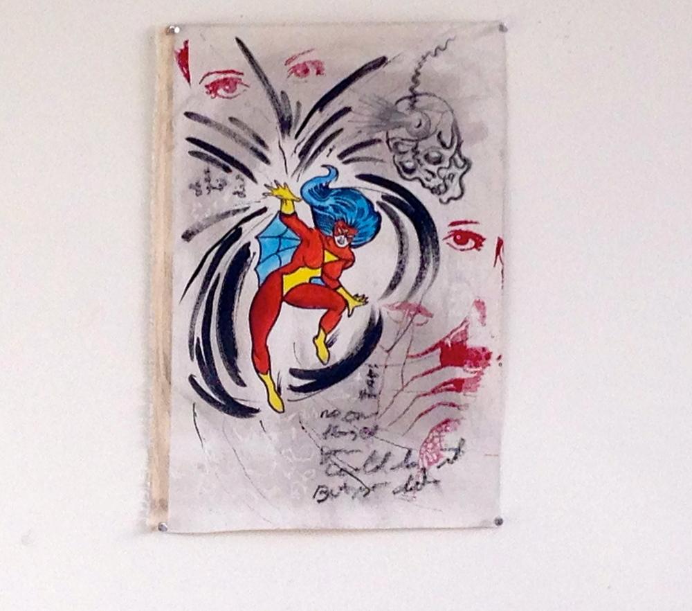 "Mixed Media Silk Screen / Ink  14 x 22"""
