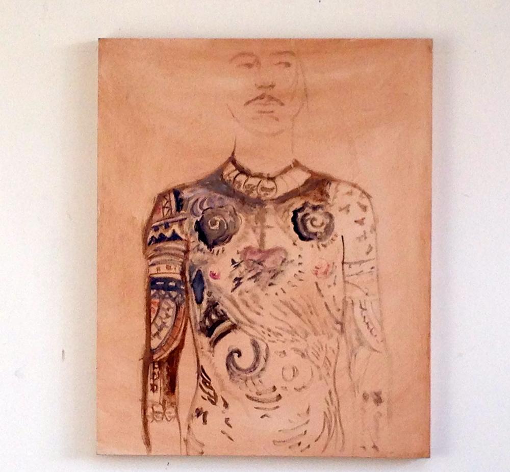"""Portrait of Pigpen Wood Panel / Oil  24 x 30"""""""