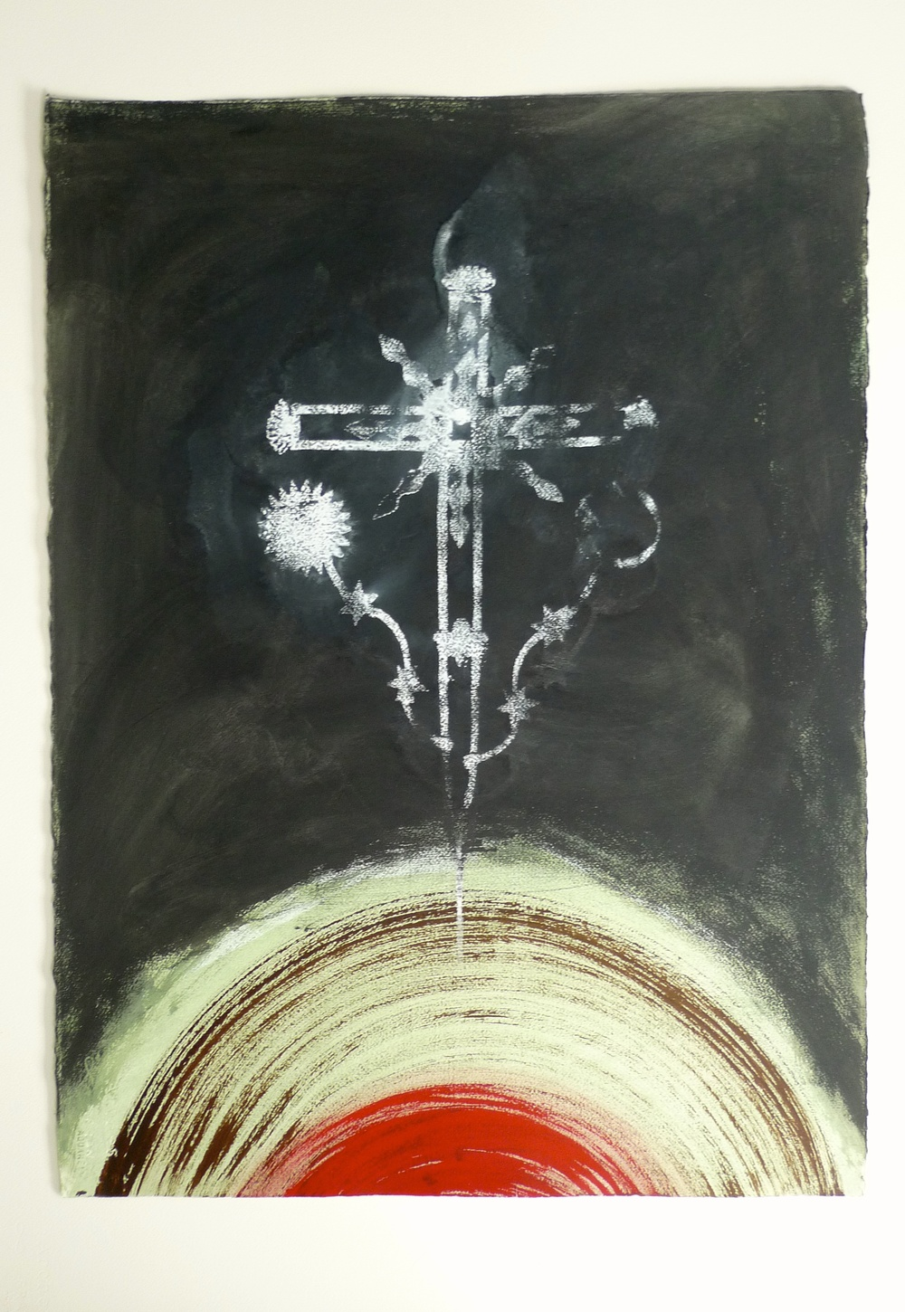 Solar Eclipse  (2010) Ink Arches Paper  22 x 30""