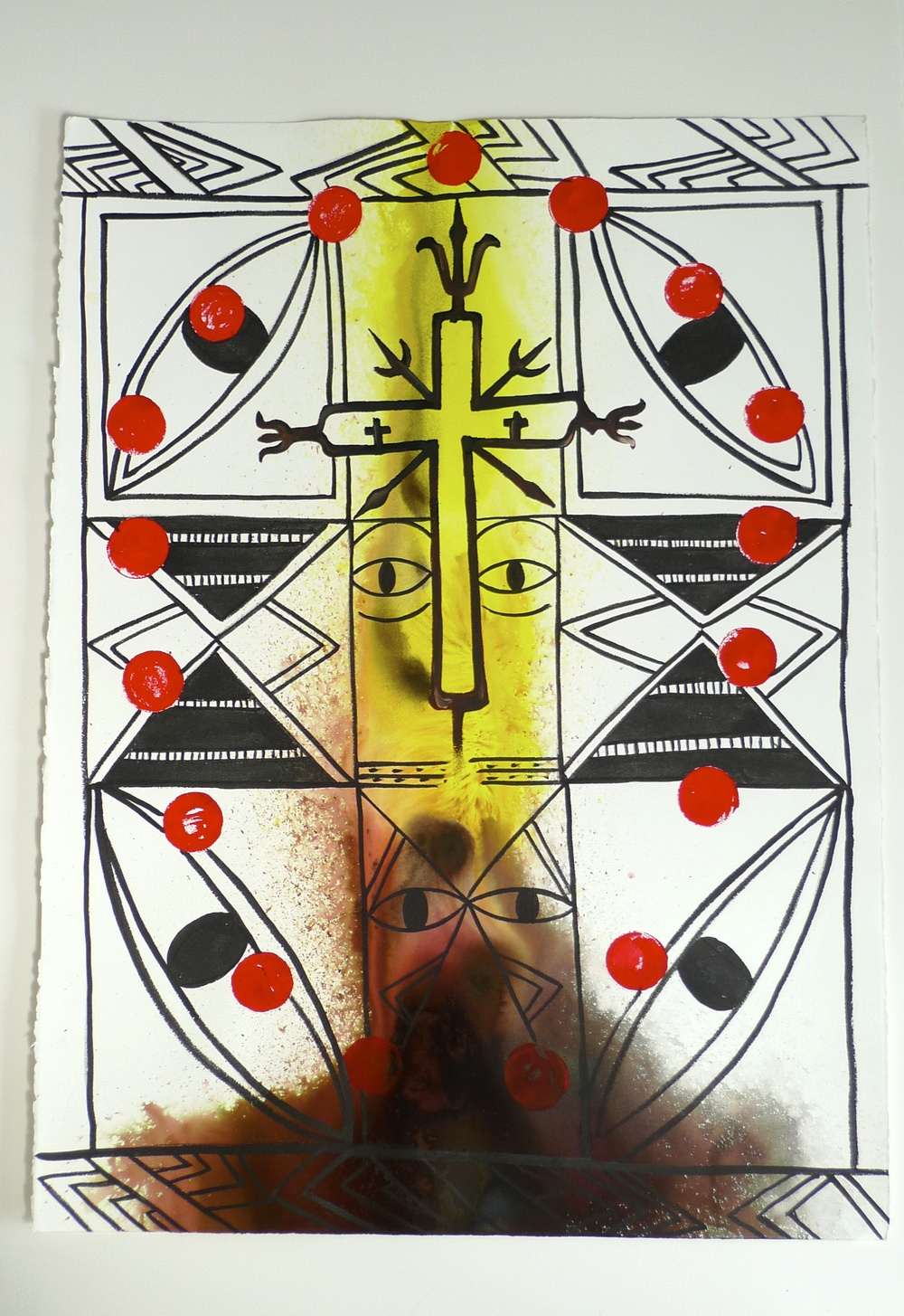 Phases of the Sun   Ink   2010  22 x 30""