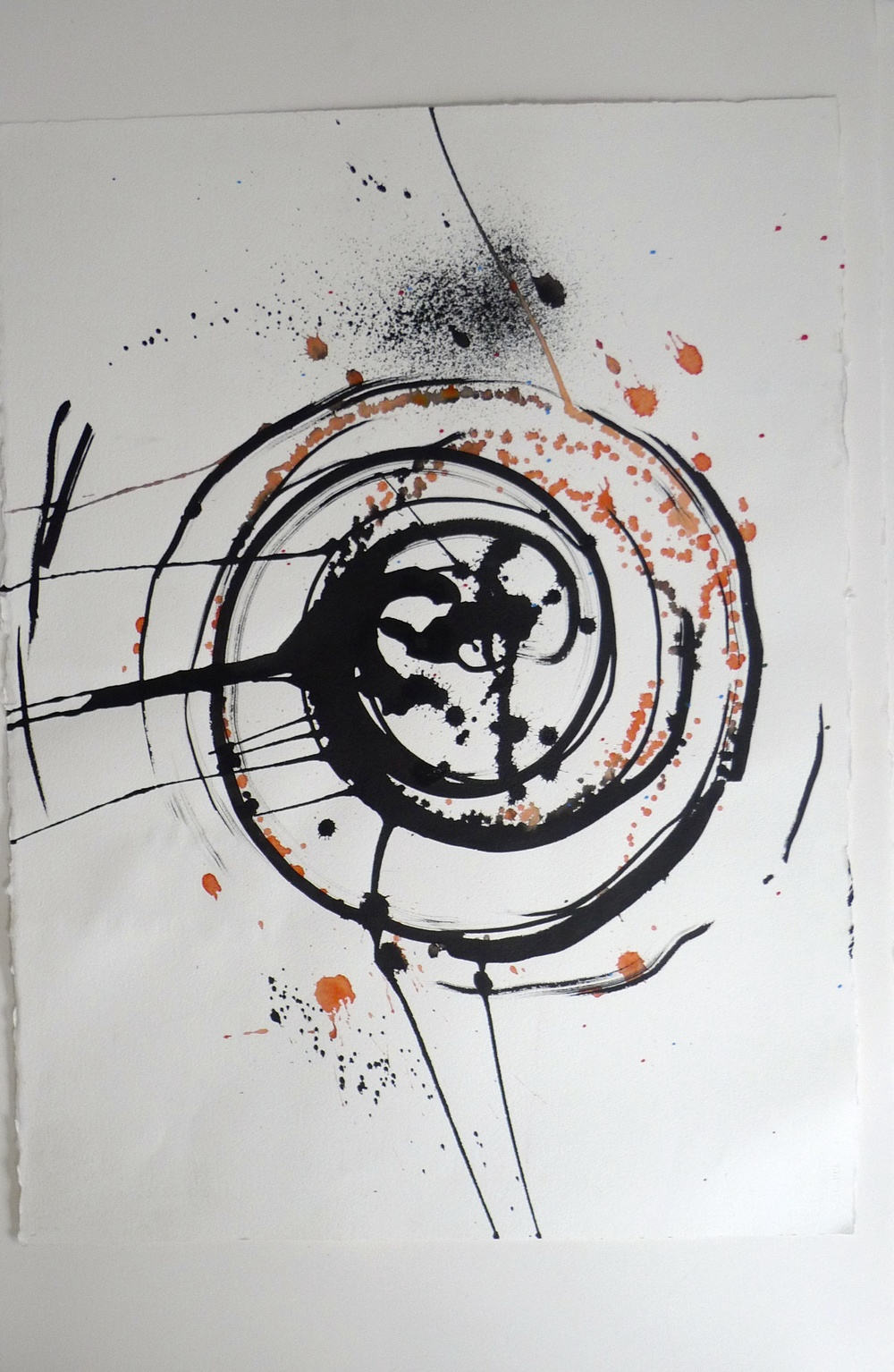 Ink Splatter / Spinning Wheel     (2011/2012) Arches Paper  22 x 30""