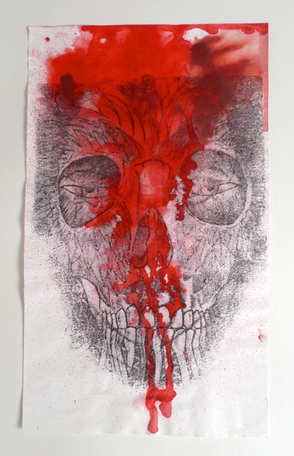 "Red Skull  Print with red ink  8.5"" x 12"""