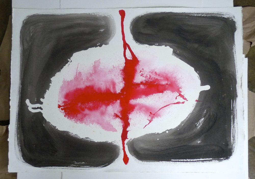 Untitled   Ink, Arches Paper  2010  30 x 42""