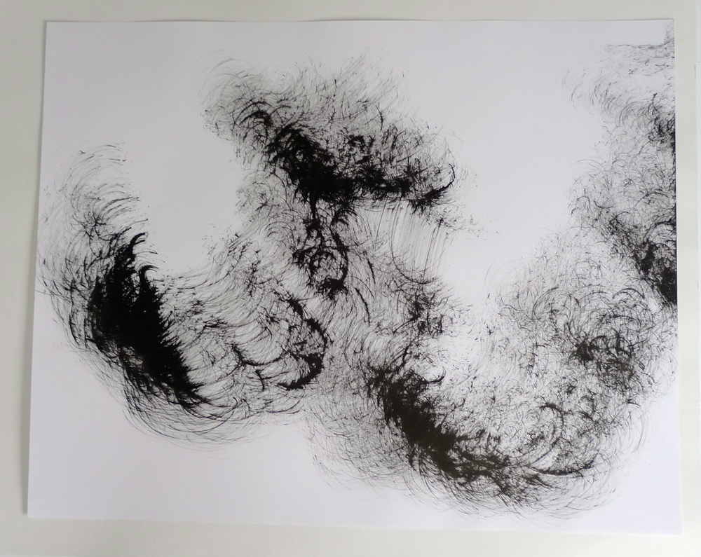 """""""Abstraction II""""  22"""" x 30""""  Ink on paper"""
