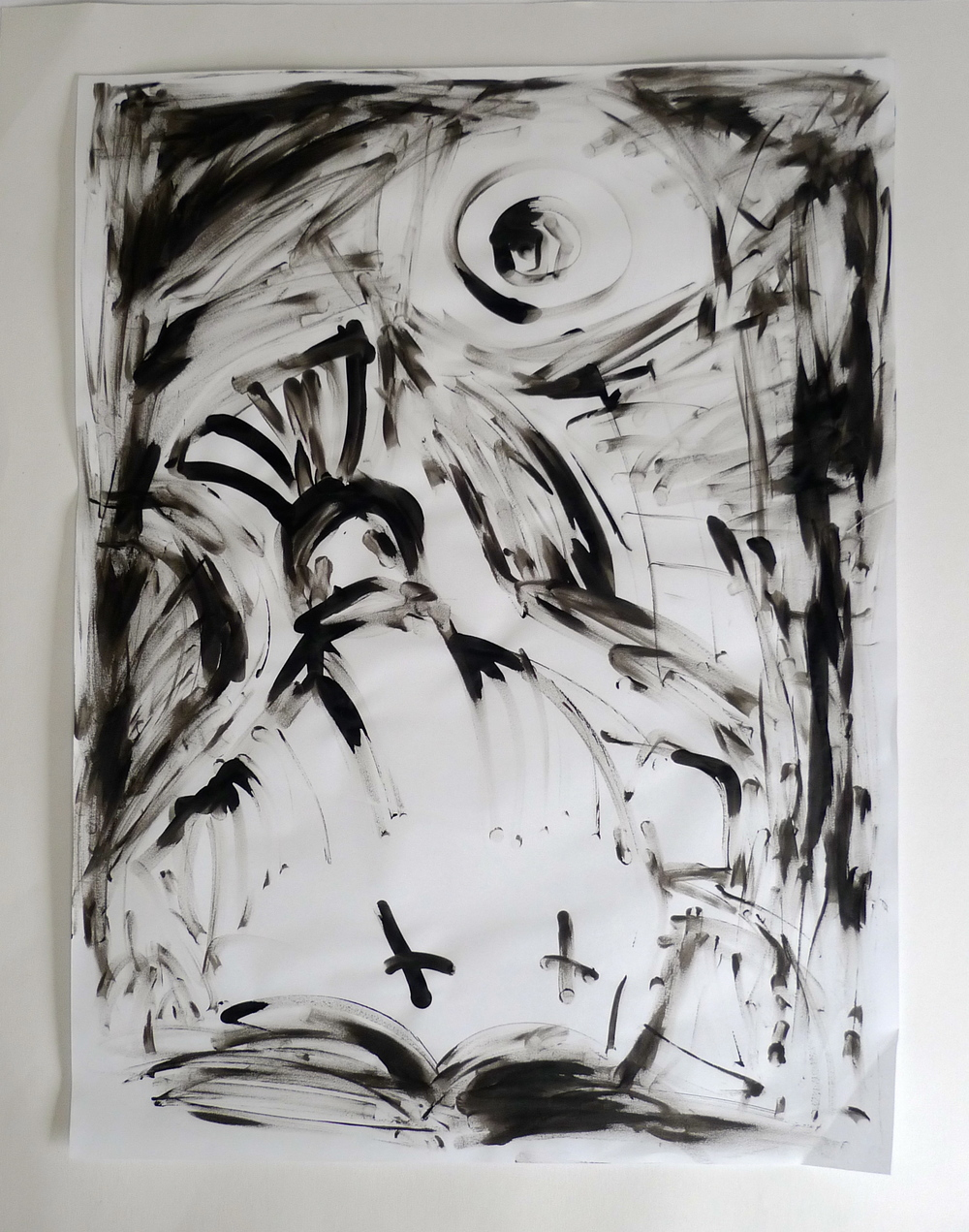 """""""Abstraction""""  Ink on paper  22"""" x 30"""""""
