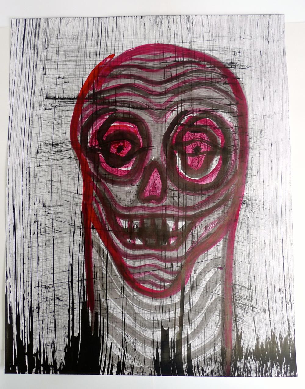 """""""Worm Skull""""  Oil on Canvas"""