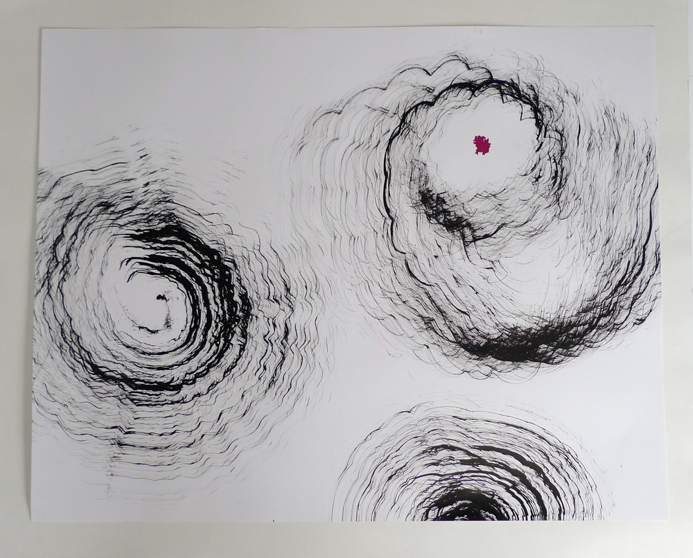 """""""Abstraction IV""""  22"""" x 30""""  Ink on paper"""