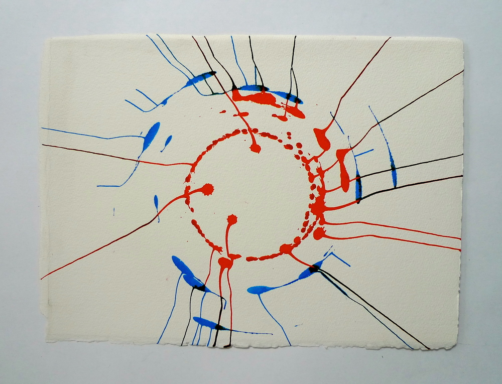 "Tunnel IV  Ink spun on potter's wheel, Arches  11"" x 15"""