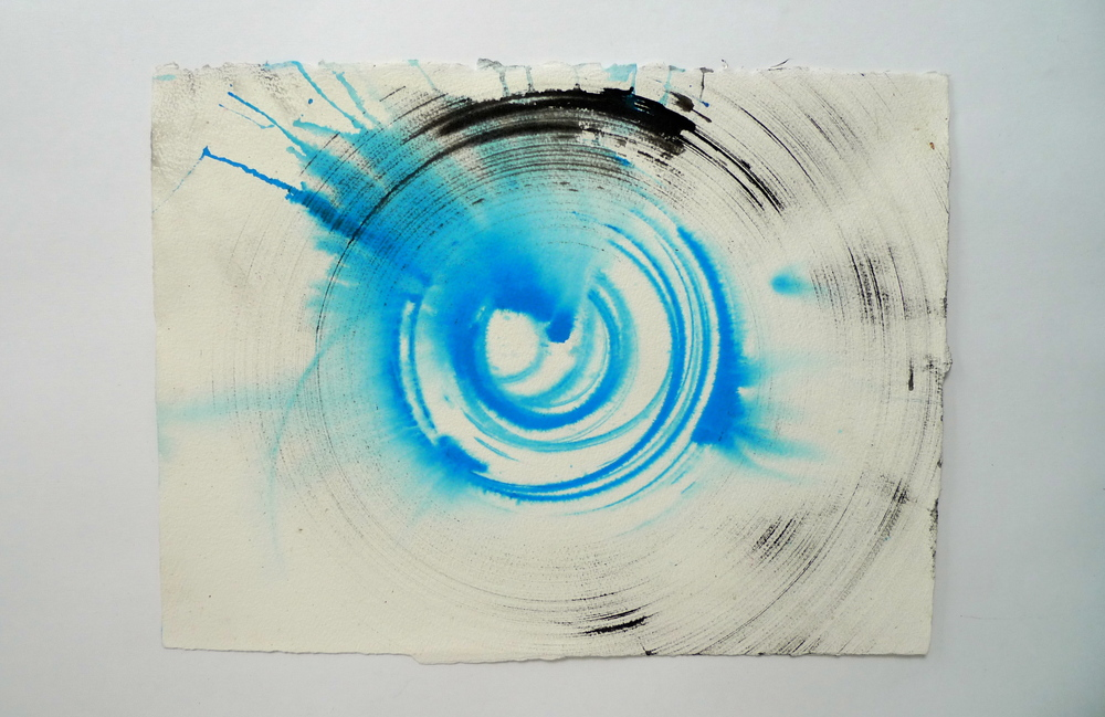 "Tunnel VI  Ink spun on potter's wheel, Arches  11"" x 15"""