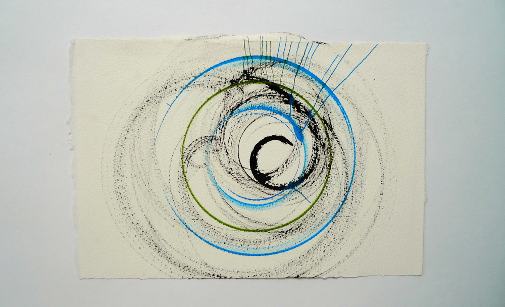 "Tunnel XII  Ink spun on potter's wheel, Arches  11"" x 15"""