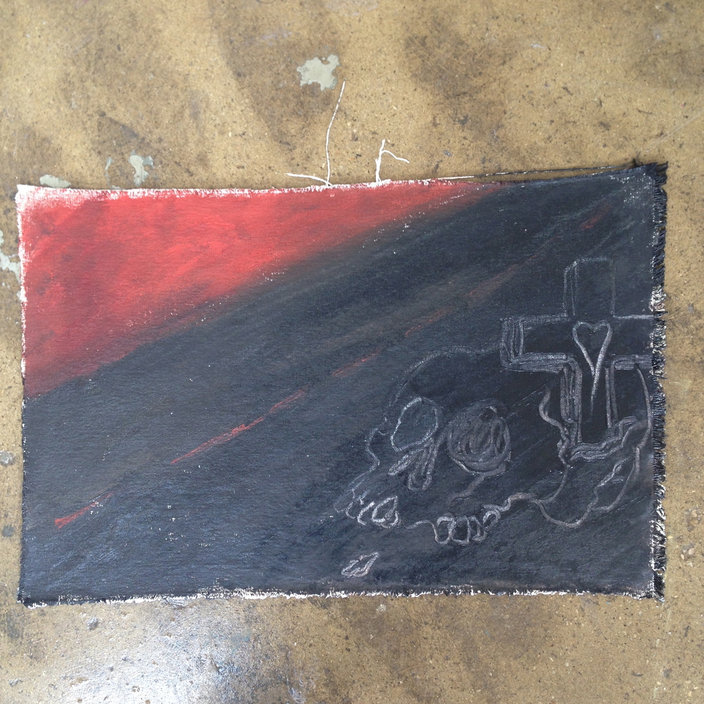 """Skull Road""  12"" x 19""  Oil on canvas"