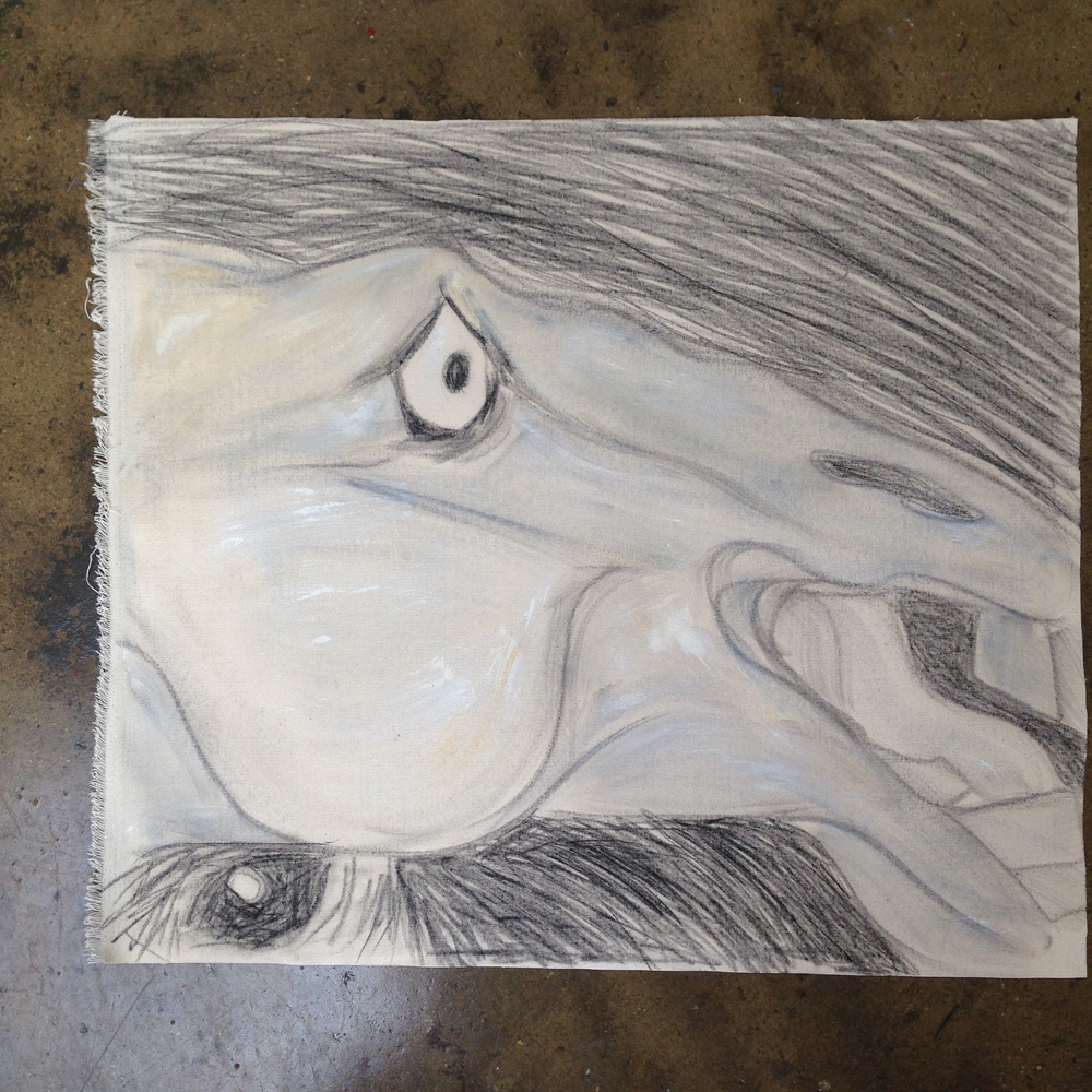 """""""Horse Head""""  27"""" x 31""""  Oil on canvas"""