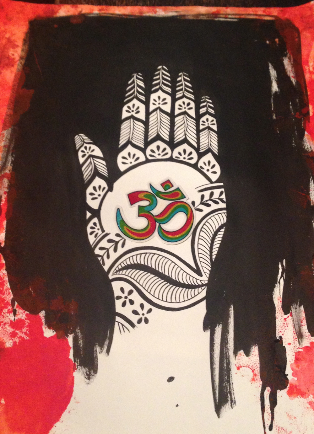 Original Artwork  Painting donated to the Nepal Earthquake Relief Benefit