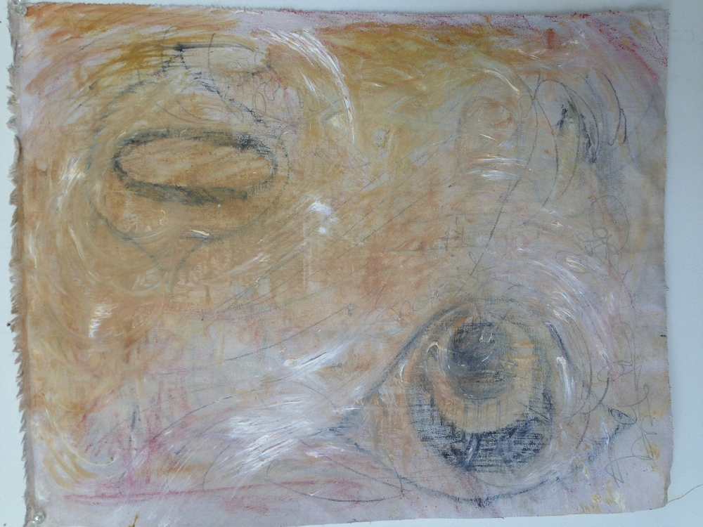 """Eyeballs""  15.5"" x 20""  Oil on canvas"