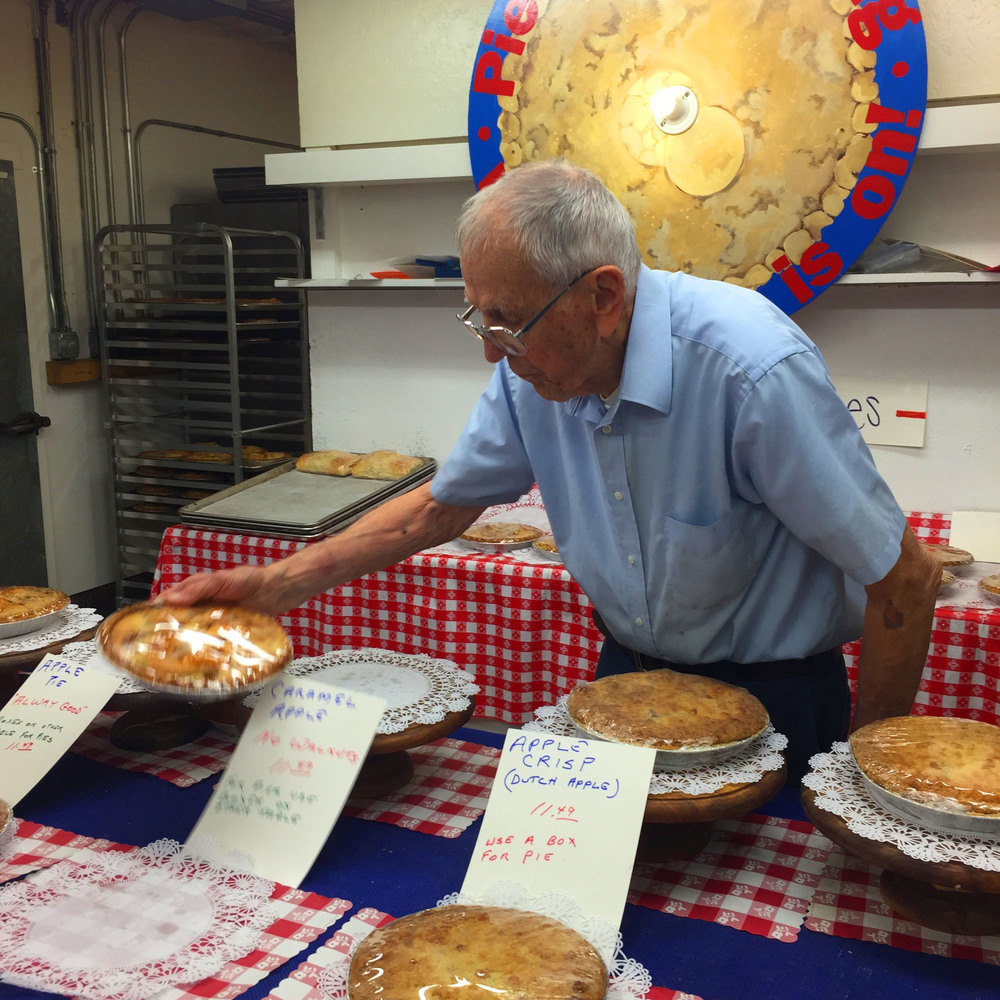 Meet Hippy, the sweet 88 year-old grandpa who makes the apple pies.