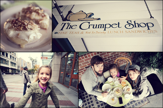 The Crumpet Shop...Seattle {Cadence and Haven loved it!}