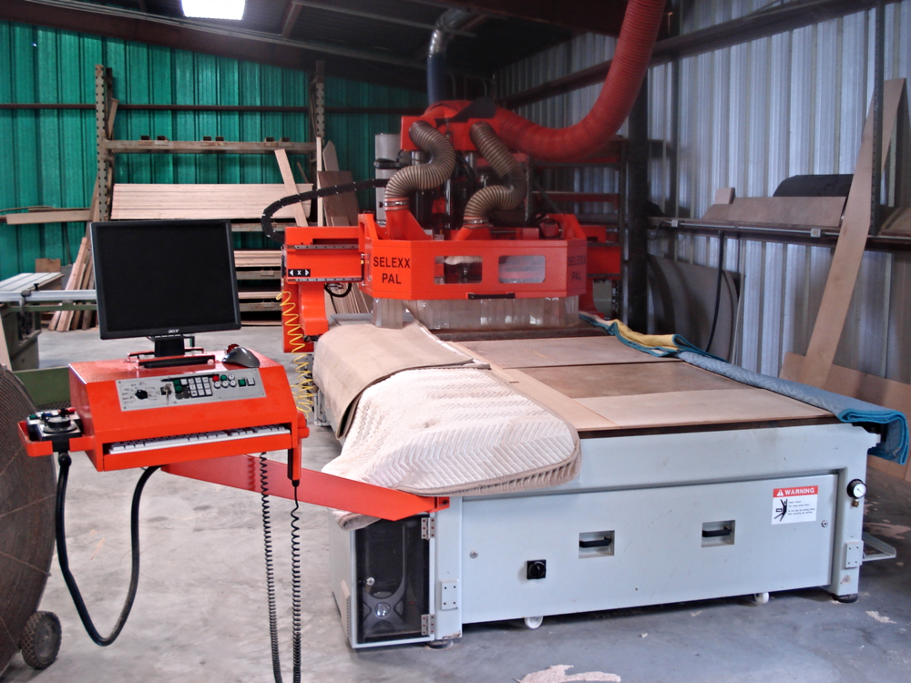 Cutting edge machinery provides precise cuts, better build quality, faster production time, and even custom 3d carvings.