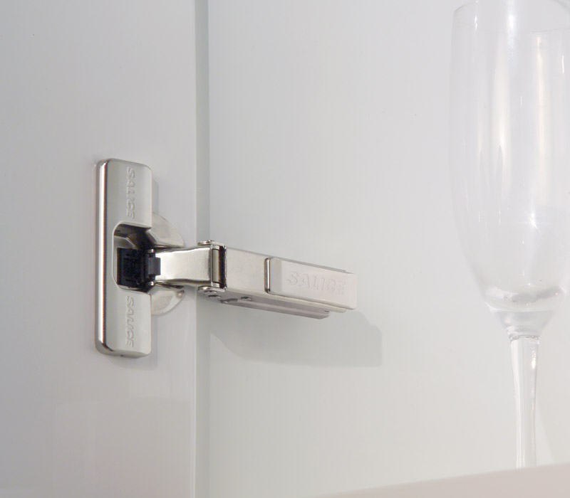 6-way adjustable, push button removable hidden hinges.  Source : www.saliceamerica.com