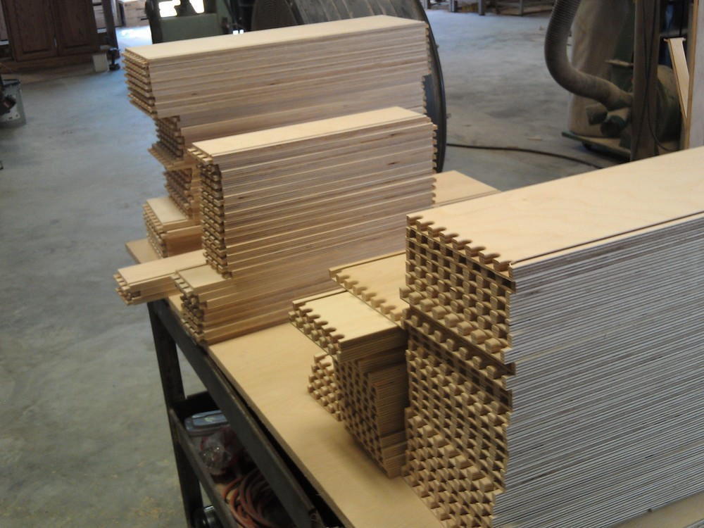 Drawer parts fresh off the CNC router.