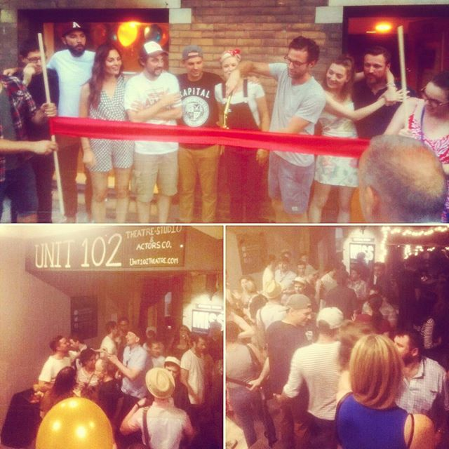 Congratulations to @Leroy_street_theatre &@theunit102theatreco for opening their new home at @assemblytheatre. All the pups at @coyotetheatre wish you many broken legs and sold out opening nights! 🍾🍾#indieunite #unit102theatre #leroystreettheatre #assemblytheater #tonewbeginnings #welcomehome
