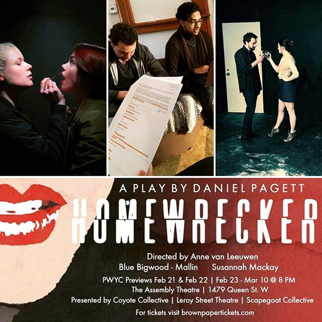 💋🥃🖤 We are delighted to announce our latest collaboration with @leroy_street_theatre & @scapegoat_collective, HOMEWRECKER, opens this Friday! Cure those post- Valentine's blues and crush your crush with this black comedy about love. 🖤🥃💋 Tickets at http://bit.ly/hmwrecker -- Time to #getwrecked !  #indieunite #allsfairinloveandwar