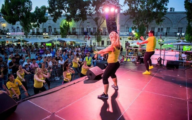 Bianca Yeo - On stage running her Zumba With B - Zumba in Gibraltar event.  (Photo: Infinity Photography)