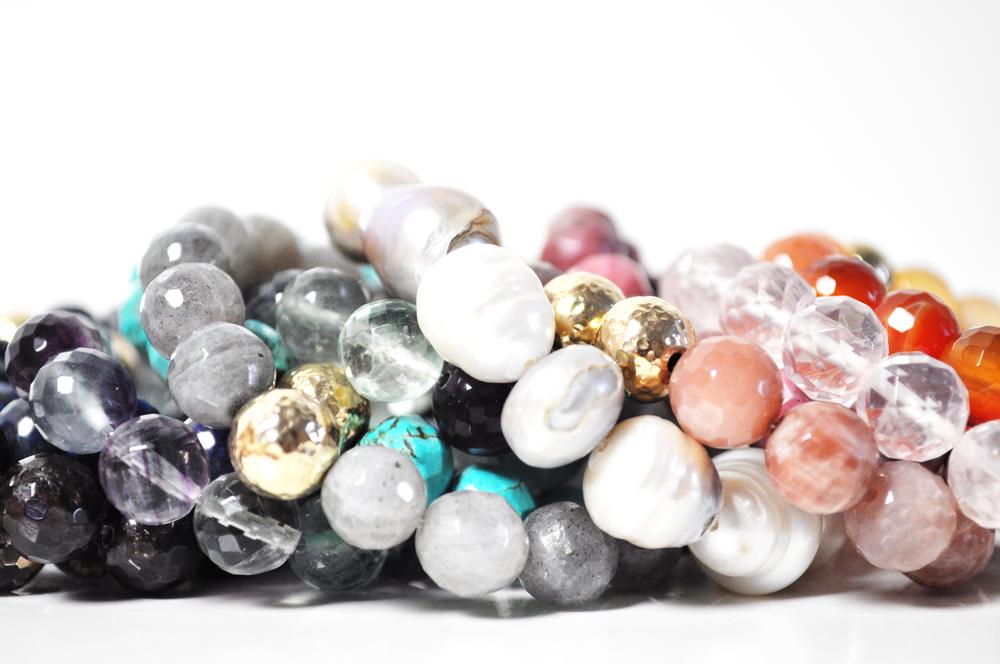 SemiPrecious Stretch Bracelets