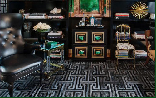 Malachite pull featured by US Interior Designer Preston Lee