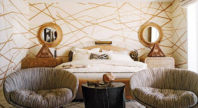 Kelly Wearstler, California Beach house as featured in Elle Decor