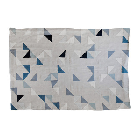 Niki Jones Harlequin Linen Throw