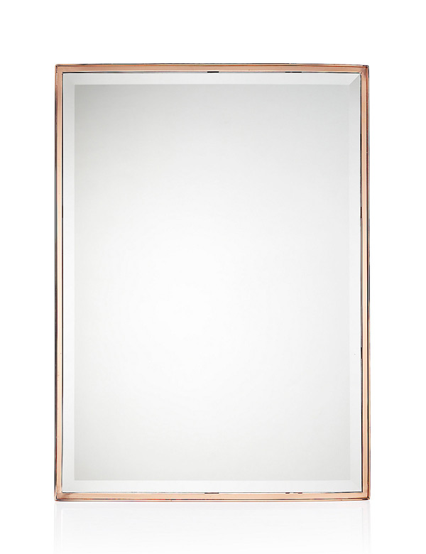 Rectangular Metal Frame Mirror