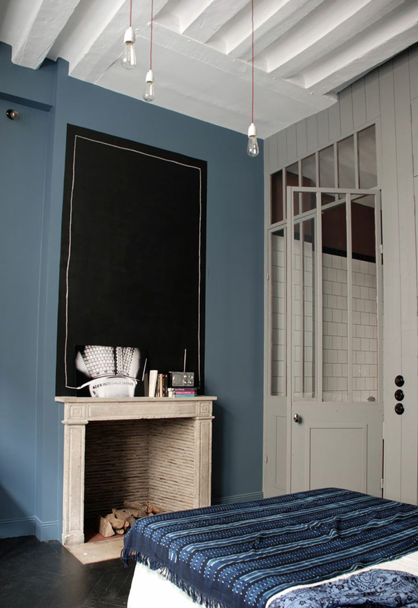 Denim indigo interiors