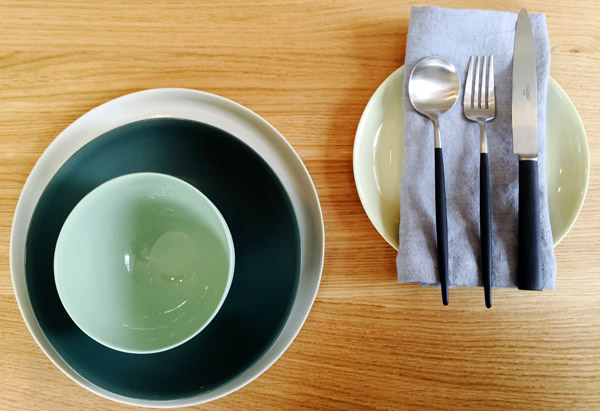 Mud Australia, London Store, pistachio, bottle, mist, Knives and plates , homewares, porcelain